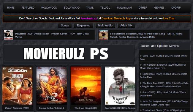 Movierulz PS 2021 Telugu New Movies Download Torrent Site ...